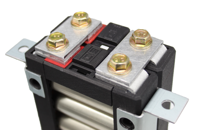 Lithium Block Busbar on a Battery