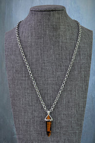 Semi-precious Crystal Point Necklace