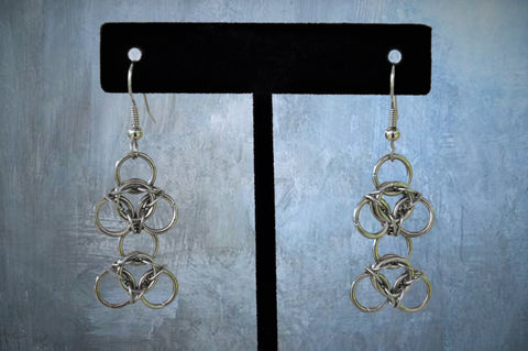 Stainless Steel Chainmaile Earrings (ERR7)