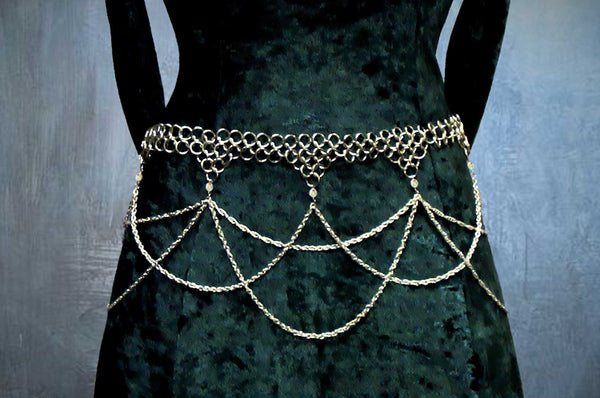 Three Tiered Chainmaile Belt