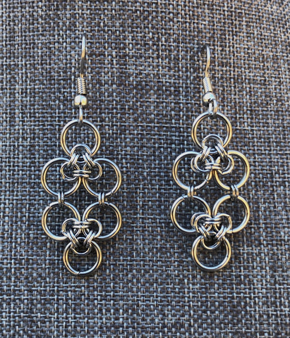 Stainless Steel Celtic Lace Earrings (ERR37)
