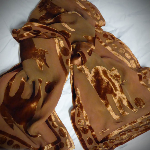 Cat scarf - rust