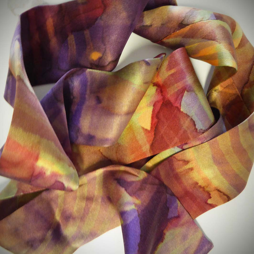 Silk satin ribbon - aubergine