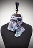 Bubbles devoré scarf - silver blues