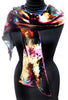 Velvet satin scarf - jewel colours