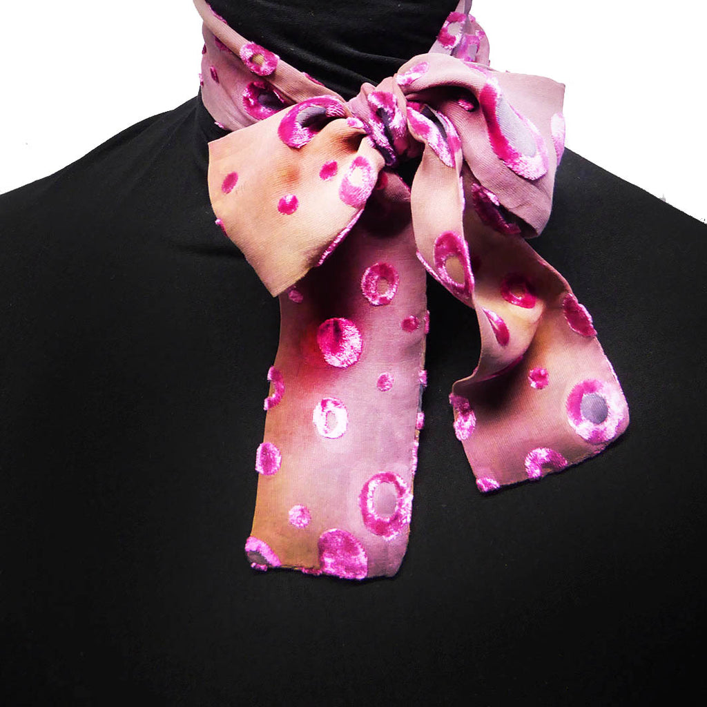 Bubbles devoré scarf - pink peach