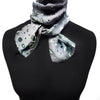 Bubbles devoré scarf - silver greens