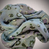 Bubbles devoré scarf - lilac green