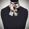 Flower garden skinny scarf - jewel colours