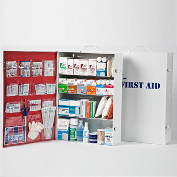 4 Shelf Industrial First Aid Kit with Liner