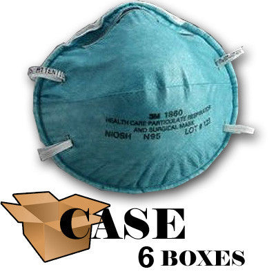 3M 1860 N95 Particulate Disposable Respirator - Case