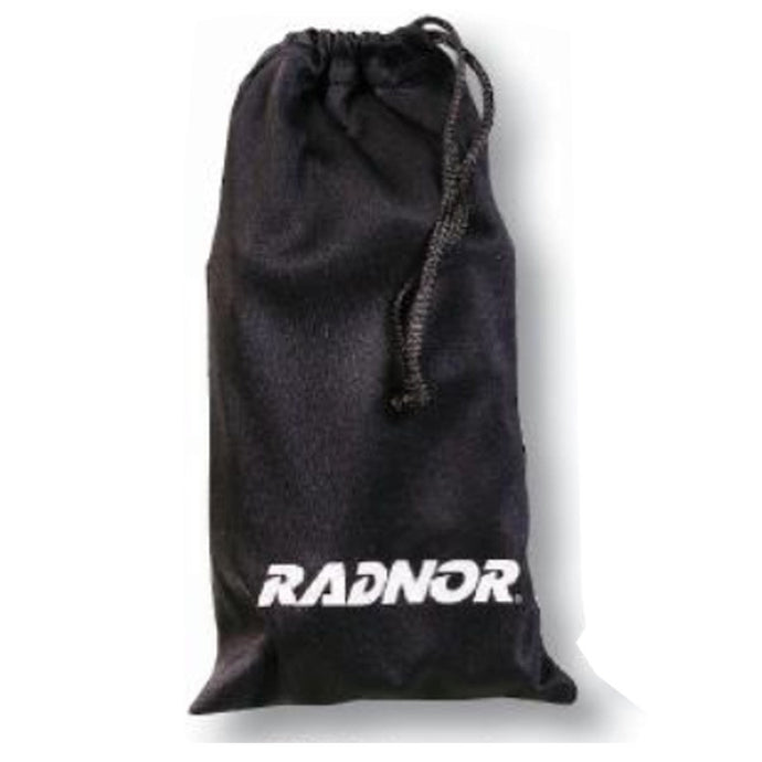 Radnor Black Microfiber Eyewear Pouch With Drawstring Closure