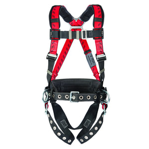 MSA Standard TechnaCurv Construction/Full Body/Vest Style Harness With Secure-Fit Chest Strap Buckle, Tongue Leg Strap Buckle, 1 Back And 2 Hip D-Ring And Belt Loop With Internal Belt