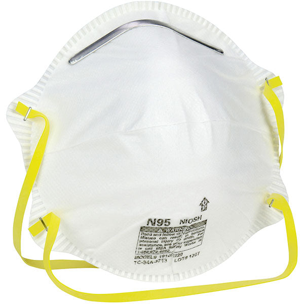 Safety Works N95 Particulate Respirator OSHA & NIOSH Approved (20/Box)