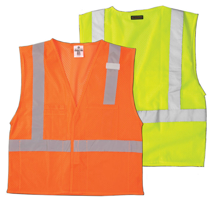Hook and Loop Front 4-Pocket Class II Safety Vest