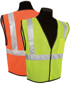 Economy 1-Pocket Mesh Class 2 Safety Vest Size Range 4XL-5XL Color Lime