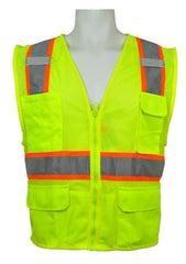 ML Kishigo - Ultra-Cool Multi-Pocket Vest Class 2 Safety Vest color Lime size X-large