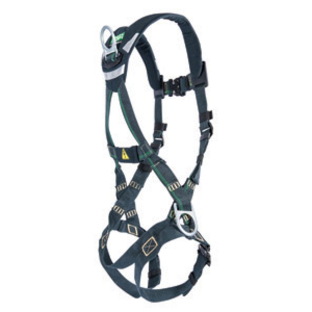 MSA X-Large EVOTECH Arc Flash Full-Body Harness With Back And Hip Steel D-Rings, Qwik-Fit Leg Straps And Shoulder Padding
