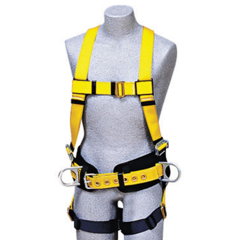 3M DBI-SALA X-Large Delta Construction/Full Body/Vest Style Harness With Back And Side D-Rings, Non-Slip Chest Strap, Parachute Buckles On Lower Shoulder Strap, Pass-Through Buckle Leg Strap And Tongue Buckle Body Belt With Foam Back Pad