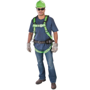 MSA X-Large TechnaCurv Full Body/Vest Style Red Harness With Qwik-Fit Chest Strap Buckle, Tongue Leg Strap Buckle, 1 Back And 2 Hip D-Ring