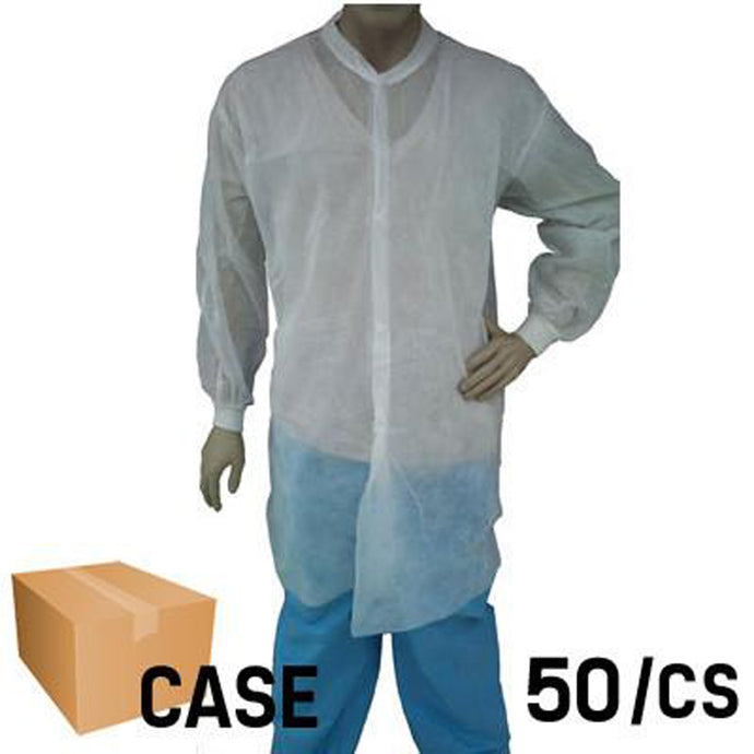 EPIC- White Lab Coat with Snap Front - Case