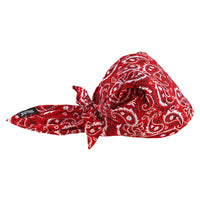 Ergodyne Red Western Chill-Its 6710Ct Advanced Pva Evaporative Cooling Triangle Hat With Tie Closure And Towel