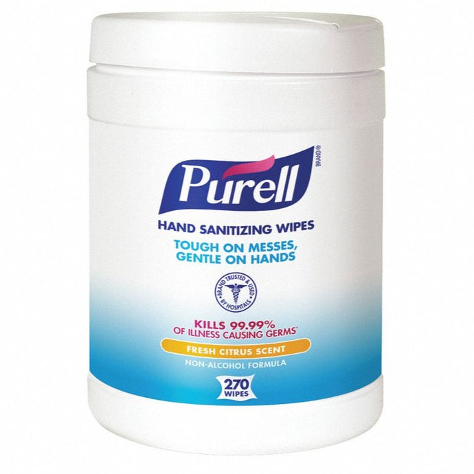 Purell® Sanitizing Wipes, Canister Of 270 Wipes