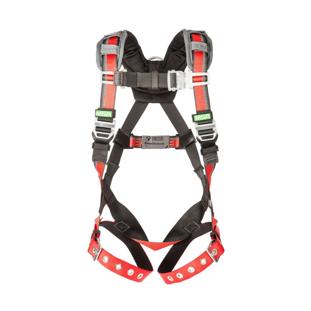 MSA EVOTECH Universal Full Body Harness With Quick Connect Leg Straps And Back D Ring