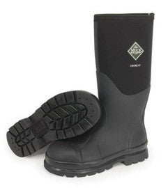 "Servus by Honeywell Size 7 Muck Chore Black 16"" Insulated Neoprene And CR Flex-Foam Boots With Vibram Outsole, Steel Toe, And EVA Sock Liner"