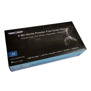 Clean Safety -  8 mil. Nitrile Powder-Free Gloves - Case