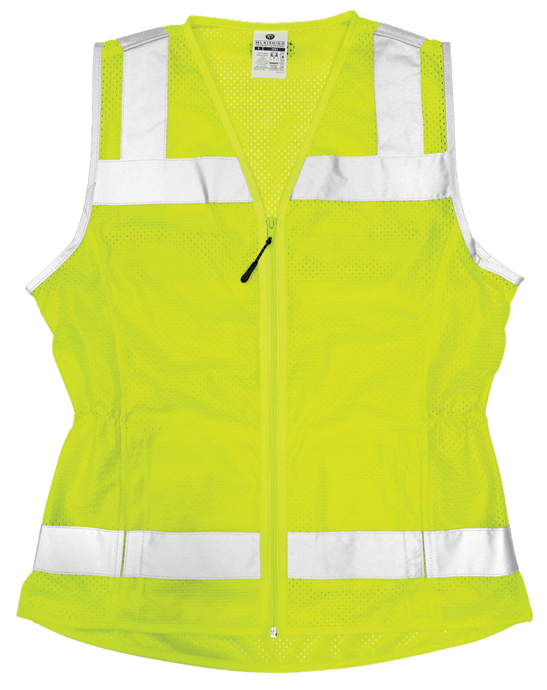 Ladies Economy Mesh Vest - Lime
