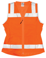 Ladies Economy Mesh Vest - Orange
