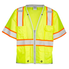 Load image into Gallery viewer, ML Kishigo ANSI Class 3 Ultra-Cool Mesh Vest Contrasting Tape size X-large Color Lime
