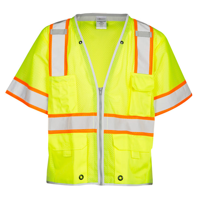 ML Kishigo ANSI Class 3 Ultra-Cool Mesh Vest Contrasting Tape size X-large Color Lime