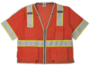 ML Kishigo - BRILLIANT SERIES Class 3 Breakaway Vest Color Orange Size Medium