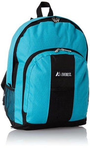 Everest Luggage Backpack with Front and Side Pockets  - Turquoise
