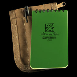 POCKET TOP-SPIRAL KIT Green Book / Tan Cover