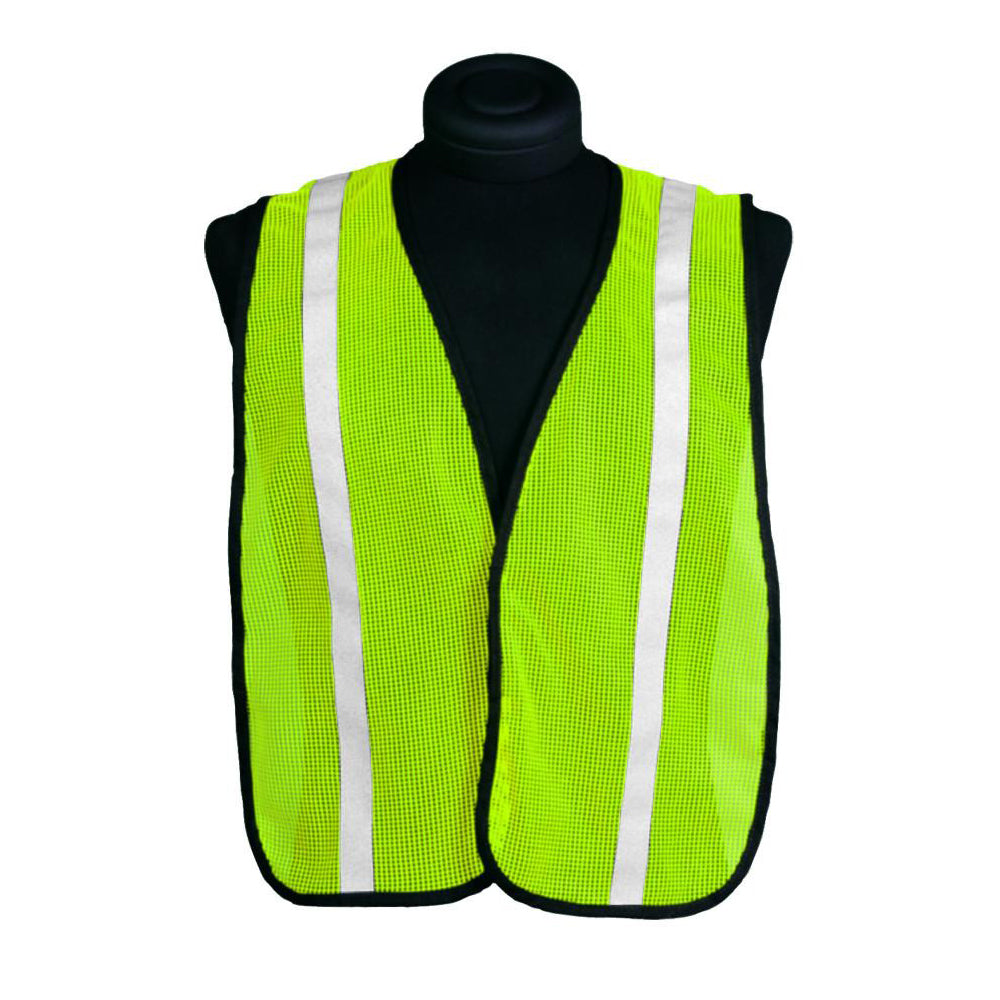 "ML Kishigo - P-Series Mesh/Economy Vest-Striped 1"" wide reflective stripes"