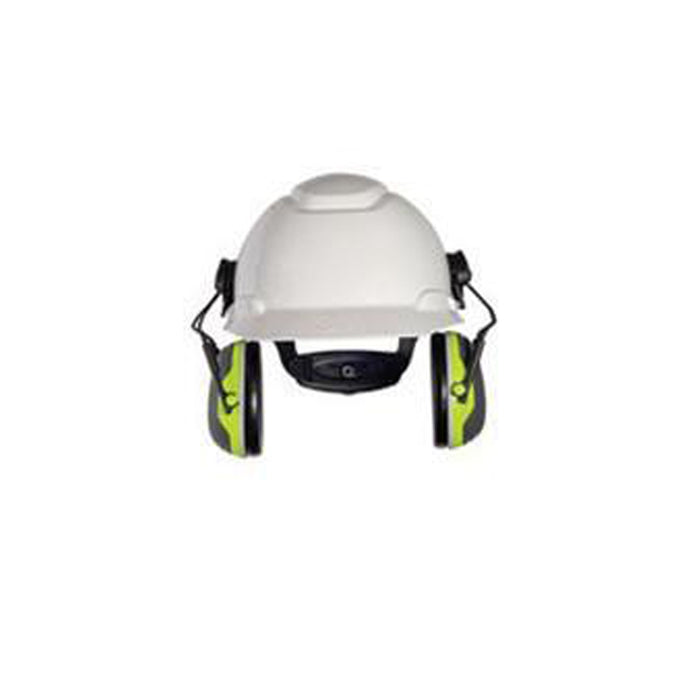 3M Peltor Black And Chartreuse Cap Mount Earmuffs