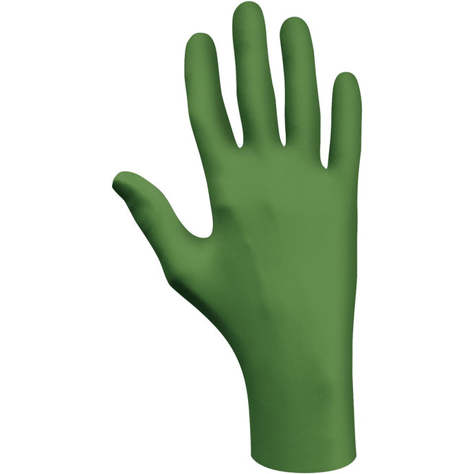 SHOWA  Green Eco Best Technology® (EBT) 4 Mil Latex-Free Nitrile Powder Free Biodegradable Disposable Gloves (100 Gloves Per Box)