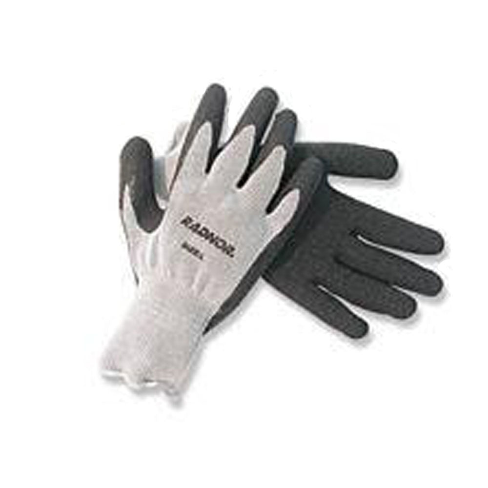 Gray Latex Coated String Gloves