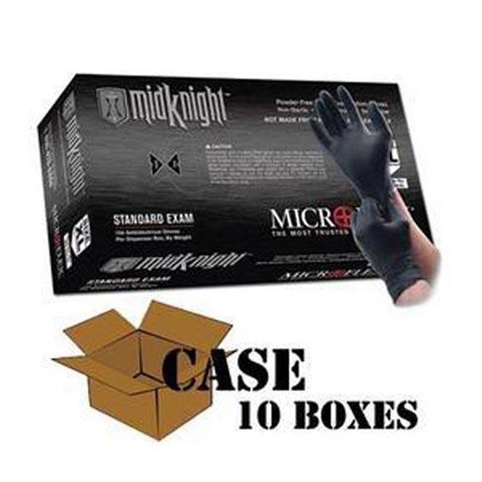 Microflex - Black MidKnight Nitrile Gloves-Case