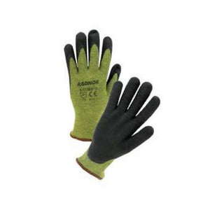 Radnor - Kevlar Brand Fiber/Steel Glove with Black Microfoam Nitrile Coating