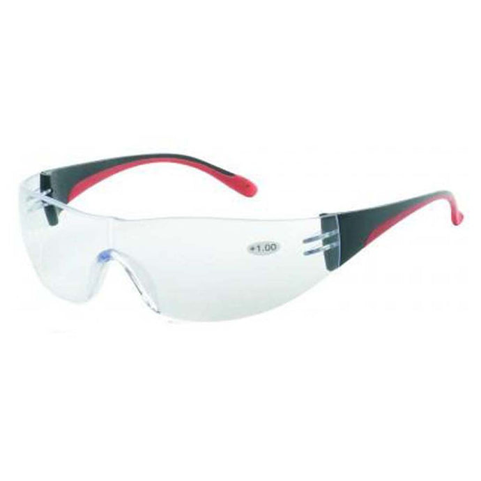 iNOX F Reader - Bifocal +3.0 clear lens with black and red frame
