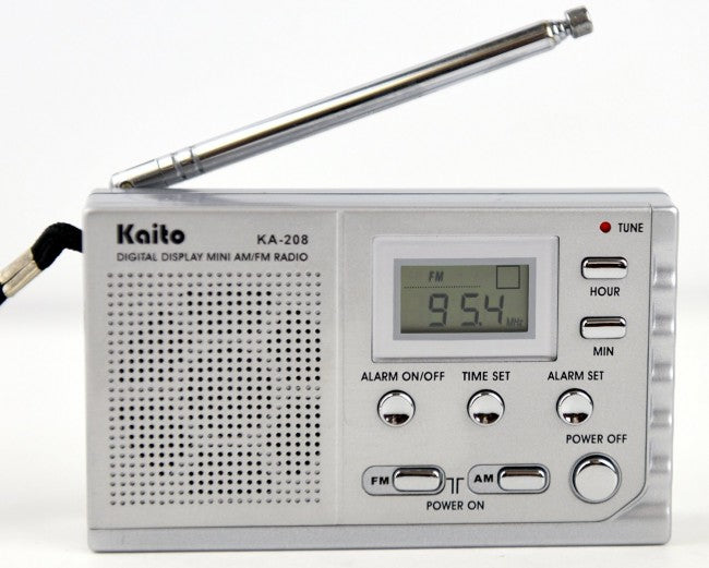 Kaito KA208 Mini size AM/ FM radio with LCD digital display