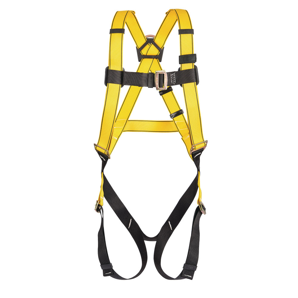 MSA Super X-Large Workman Full Body Style Harness With Qwik-Fit Chest And Leg Strap Buckle And Back D-Ring