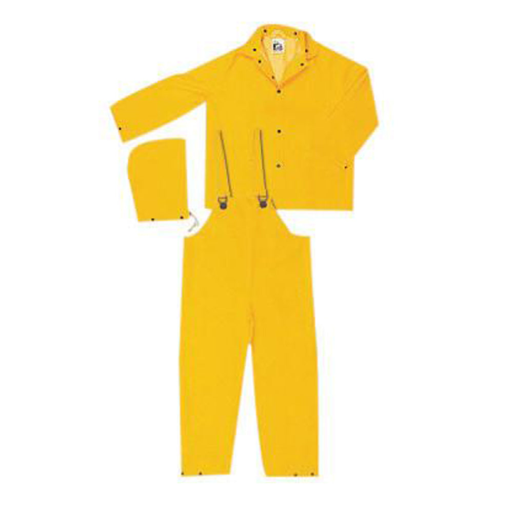 River City Garments X-Large Yellow Classic .3500 mm PVC And Polyester 3 Piece Rain Suit
