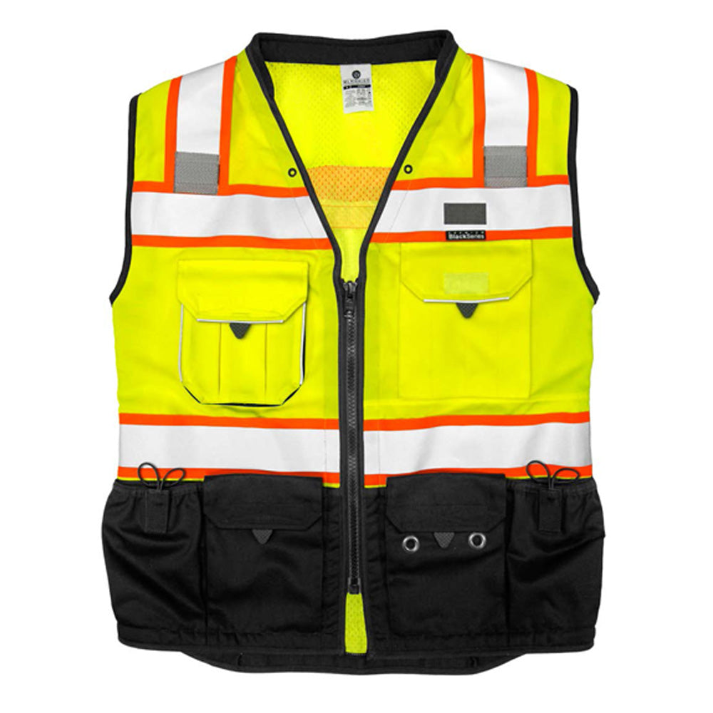 ML Kishigo - Premium Black Series Surveyors Vest - Lime