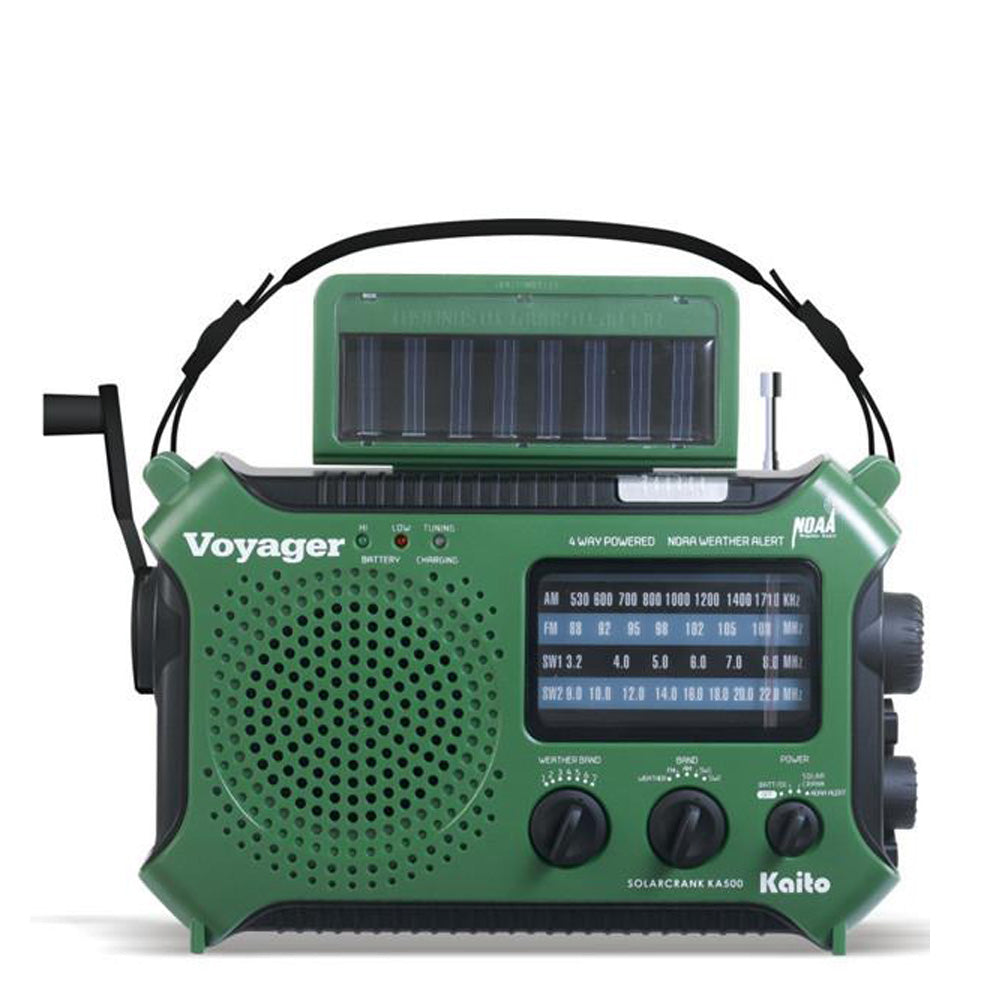 Kaito- KA500 Voyager: Multifunction Dynamo & Solar Powered Radio