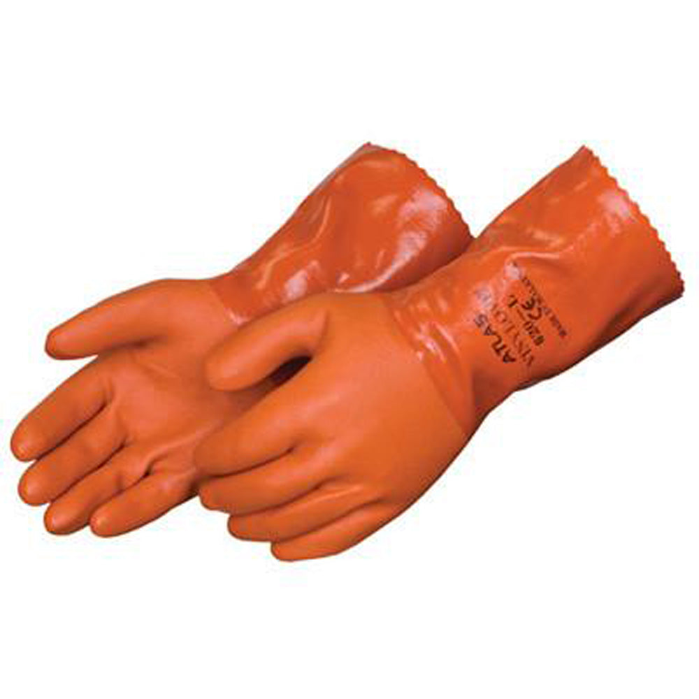Atlas Chemical Resistant Premium Orange PVC Coated Glove